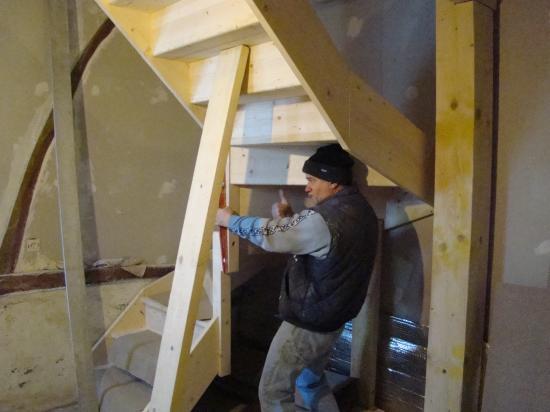 Installation de l'escalier