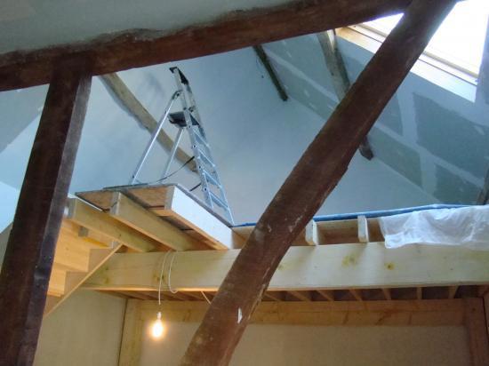 La peinture de l'étage (sous couche)