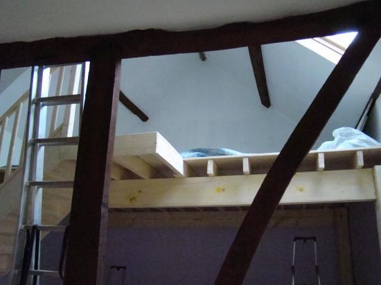 La peinture de l'étage