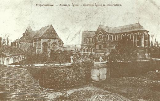 Ancienne église et nouvelle église en construction